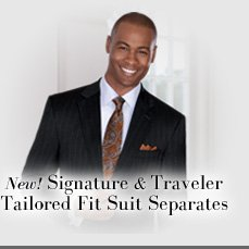 New! Signature & Traveler Tailored Fit Suit Separates