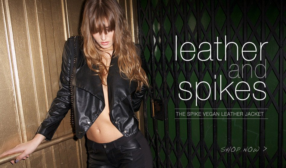 Leather And Spikes - The Spike Vegan Leather Jacket