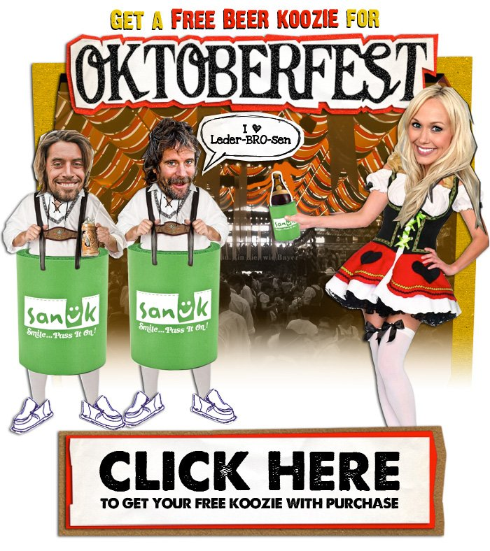 Get a Free Beer Koozie for Octoberfest - Click here to get your free beer koozie with purchase