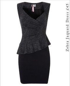 Zebra Jaquard Dress