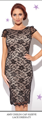 Amy Childs Cap Sleeve Lace Dress