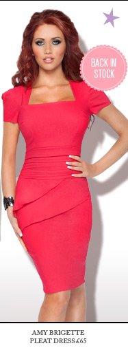 Amy Brigette Pleat Dress