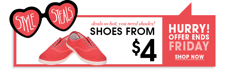 Shoes From $4