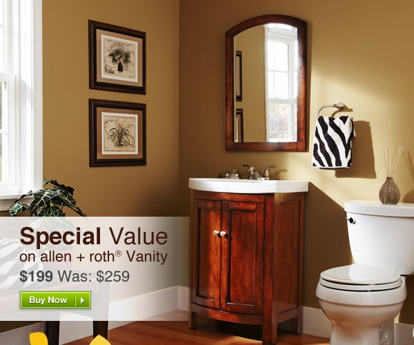 Special Value on allen + roth® Vanity. Buy Now »