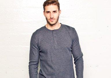 Shop Wardrobe Staples: Henleys & V-necks