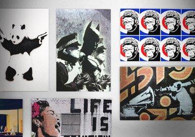 Shop New Banksy-Style Art Prints