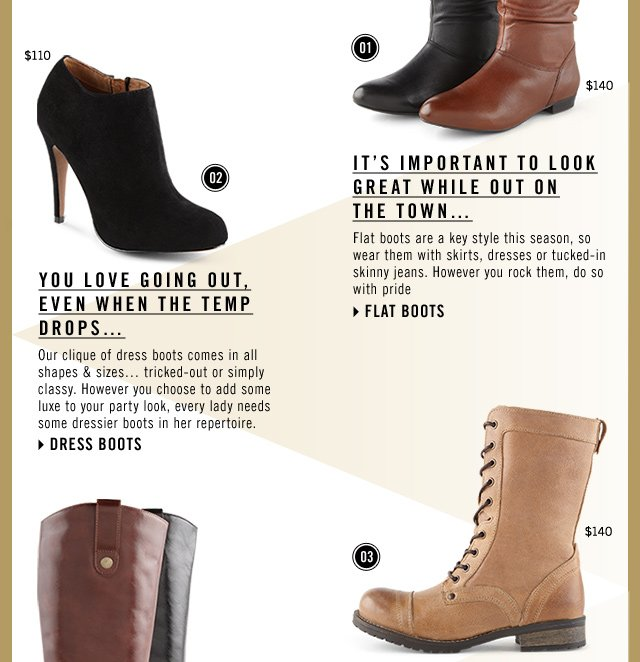BOOTS 101! WELCOME TO THE SEASON OF PUTTING YOUR BEST BOOT FORWARD. SHOP NOW AT www.aldoshoes.com/us