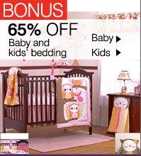 BONUS 65% OFF Baby and kids bedding