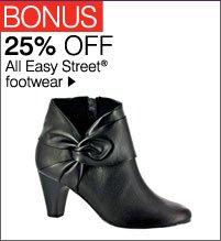 BONUS 25% OFF All Easy Street® footwear