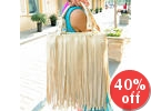 Fringed Satchel