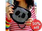 Rhinestone Panda Pattern Crossbody Bag