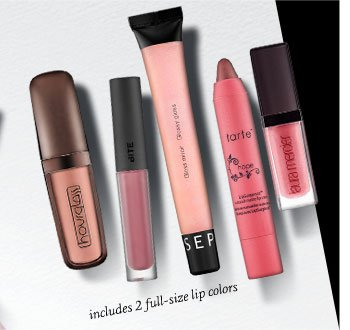 includes 2 full-size lip colors