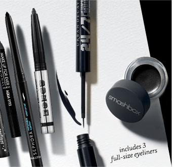 includes 3 full-size eyeliners