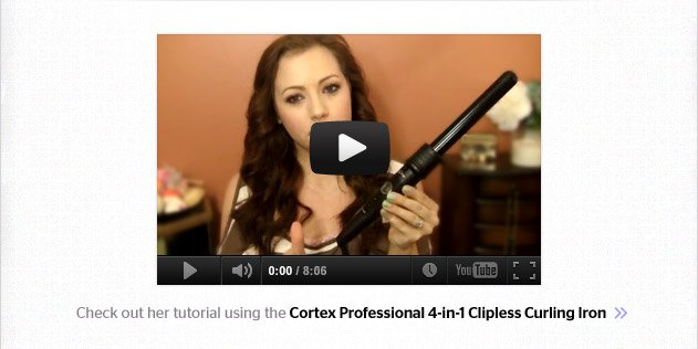 Cortex 4-in-1 Clipless Curling Iron Video