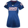 New York Giants Blue Women's Draft Me V Short Sleeve Top