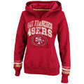 San Francisco 49ers Red Women's Pre-Season Favorite II Hooded Sweatshirt
