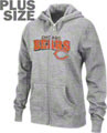 Chicago Bears Women's Plus Size Football Classic III Full Zip Hooded Sweatshirt