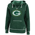 Green Bay Packers Green Women's O.T. TD II Marled Hooded Sweatshirt