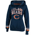 Chicago Bears Navy Women's Pre-Season Favorite II Hooded Sweatshirt