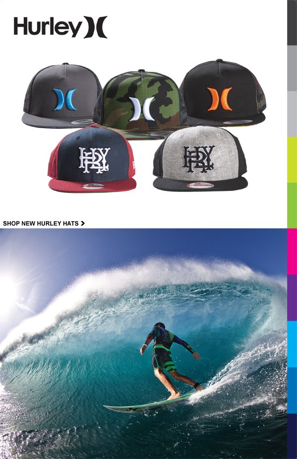 Check out these awesome new Hurley hats.