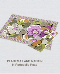 Placemat and Napkin in Portobello Road
