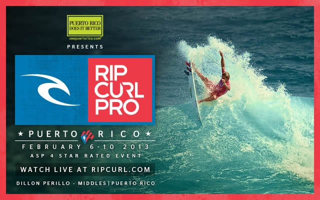 Rip Curl Pro Puerto Rico - February 6-10 2013 - ASP 4 Star Rated Event - Watch Live at ripcurl.com - Dillon Perillo - Middles, Puerto Rico
