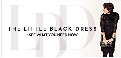 The Little Black Dress  SEE WHAT YOU NEED NOW