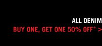 All Tees: Buy One, Get One 50% Off