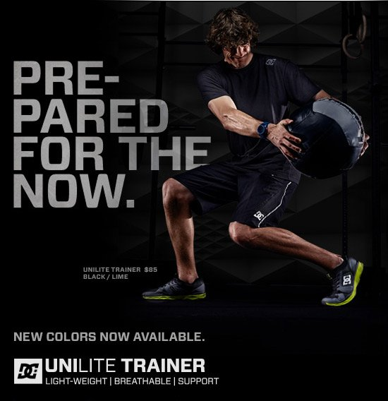 Prepared for the Now. New colors now available. Unilite Trainer $85 - Black / Lime.