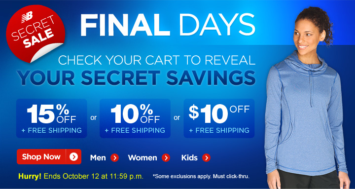 Final Days Secret Sale. Check your cart to reveal your savings.