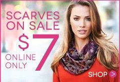 Shop $7 Scarf Sale