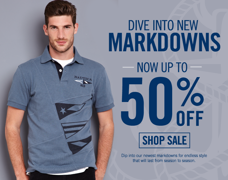 DIVE INTO NEW MARKDOWNS - Now Up To 50% off!