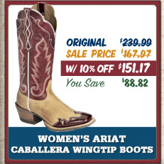 womens ariat caballera boot