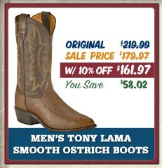 tony lama smooth ostrich boots