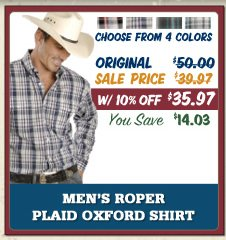 mens roper plaid shirt