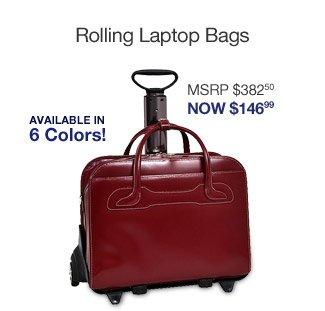 McKlein USA Leather Detachable Wheeled Women's Laptop Case