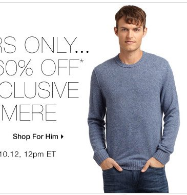 60% Off* Cashmere for Him: BLACK Saks Fifth Avenue
