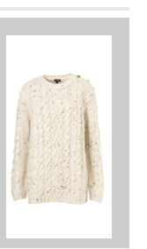 Knitted Button Cable Jumper