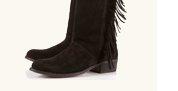 CASPER Fringe High Leg Boots