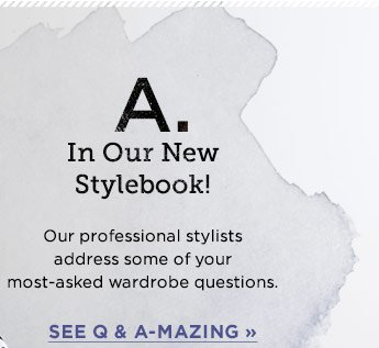 A: In Our New Stylebook!