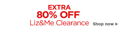 80% off Liz and me clearance