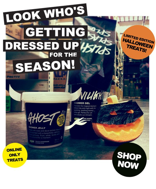 Look who's getting dressed up for the season! Limited Edition Halloween treats from LUSH