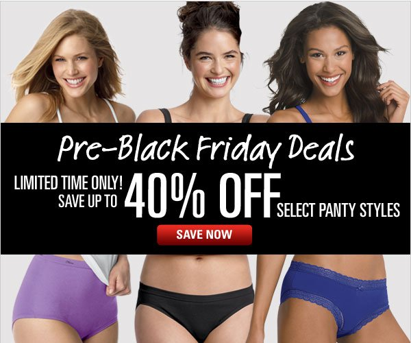 Save up to 40% on panties