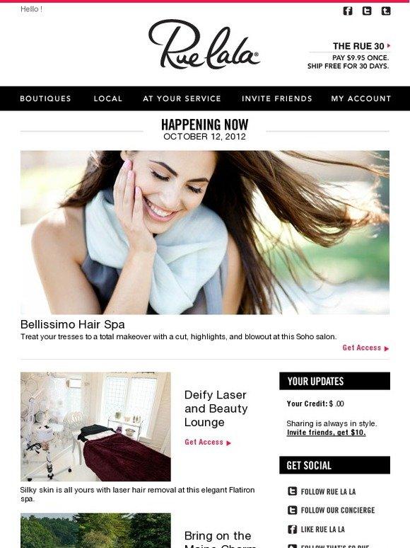 Rue la la refresh your tresses at bellissimo hair spa in - Bellissimo hair salon ...