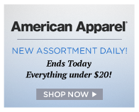 American Apparel ends today – everything is under $20! | Shop Now