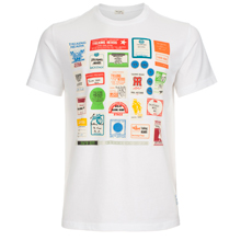 Paul Smith And Talking Heads Collaboration - White Stage Passes Print T-Shirt