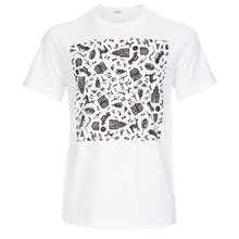 Paul Smith And Talking Heads Collaboration - White Road To Nowhere Print T-Shirt