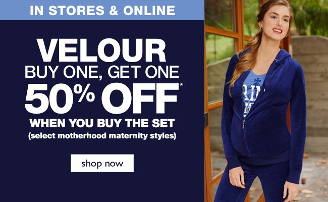 Velour: Buy One, Get One 50% Off - When you buy the set