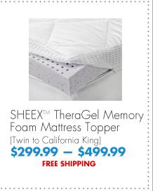SHEEX™ TheraGel Memory Foam Mattress Topper (Twin to California King) $299.99 - $499.99 FREE SHIPPING
