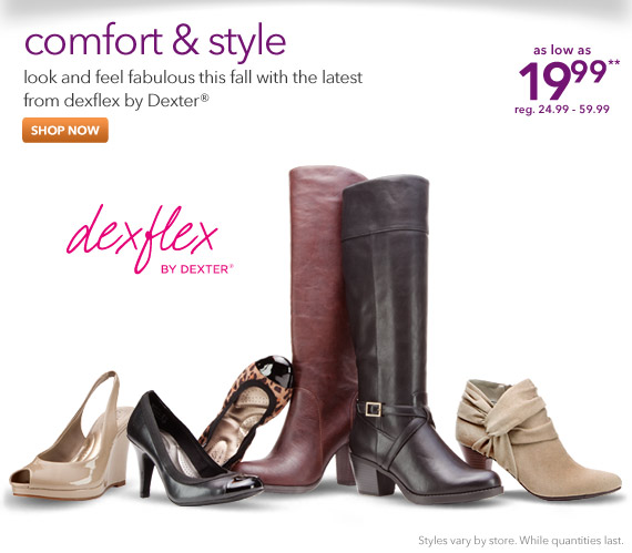 Look and feel fabulous this fall with the latest from dexflex by Dexter!